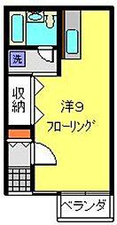 森アパート[102号室]の間取り