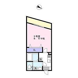 AJ新鎌ヶ谷[1階]の間取り