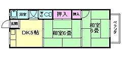 南桜塚コーポ[1階]の間取り