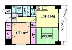 エスパシオ21[5階]の間取り