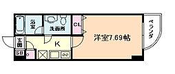 ライブコート北梅田[8階]の間取り