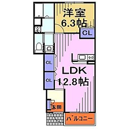 埼玉県川口市大字芝の賃貸アパートの間取り