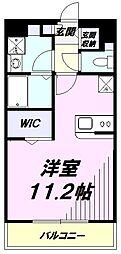 JR南武線 谷保駅 徒歩6分の賃貸マンション 3階ワンルームの間取り