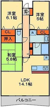 間取り(千葉みなと駅3分の分譲賃貸)