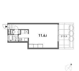 OPUS(オーパス)[1階]の間取り