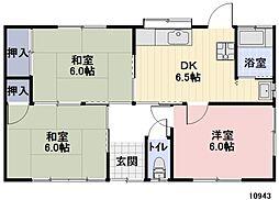 [一戸建] 愛知県豊橋市西口町 の賃貸【/】の間取り