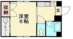 コーキーハウス[301号室]の間取り
