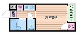 大阪府箕面市桜井2丁目の賃貸アパートの間取り
