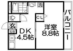 TAIHOレジデンス萱島[2階]の間取り
