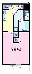 大阪府羽曳野市伊賀5丁目の賃貸アパートの間取り