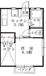 ロワール八幡AB[2階]の間取り