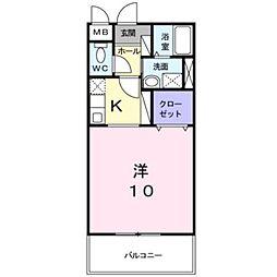 ラ フローラ[1階]の間取り