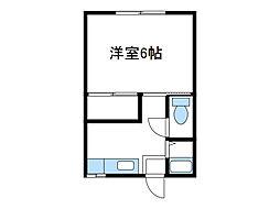 神奈川県厚木市愛甲4丁目の賃貸アパートの間取り