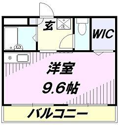埼玉県所沢市榎町の賃貸マンションの間取り