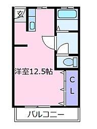 ドムール松原[4階]の間取り
