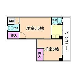 大島マンション[4階]の間取り