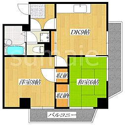 高島ハイツ[3階]の間取り