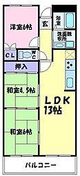 ギャレ金剛[1階]の間取り