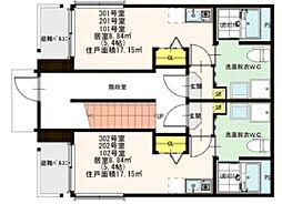東京都板橋区高島平3丁目の賃貸アパートの間取り