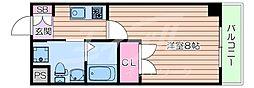 北大阪急行電鉄 江坂駅 徒歩8分の賃貸マンション 5階1Kの間取り