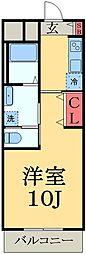 JR内房線 五井駅 バス6分 飛天坂下車 徒歩4分の賃貸マンション 3階1Kの間取り