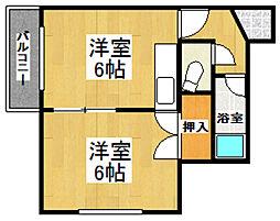 コーポ幸和II[131号室]の間取り