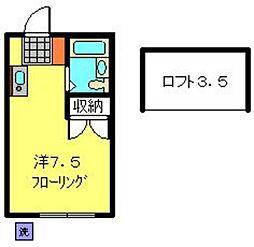 シャルム・ド・羽沢八番館[103号室]の間取り