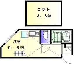 ヒルズ妙蓮寺II[102号室]の間取り