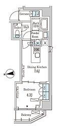 東京メトロ半蔵門線 半蔵門駅 徒歩6分の賃貸マンション 2階1DKの間取り