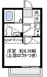 カーサ蒔田[301号室]の間取り