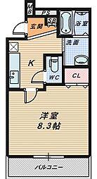 サンシーブル三国ヶ丘[3階]の間取り