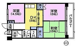 クレインハイツ[3階]の間取り