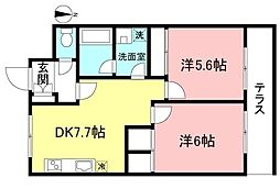 アライブハイツ協栄2[1階]の間取り