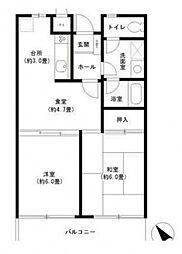 神奈川県横浜市中区石川町4丁目の賃貸マンションの間取り