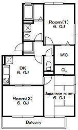 サンライトスクウェア弐番館[1階]の間取り