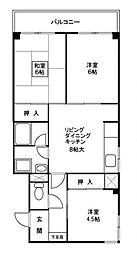 八尋タウンハウスIII 3[1階]の間取り