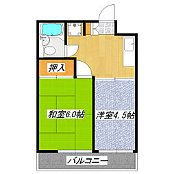 東京都北区赤羽台3丁目の賃貸マンションの間取り