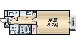 アップヒルリナ[1階]の間取り