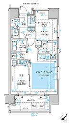 ディームス渋谷本町 8階1SLDKの間取り