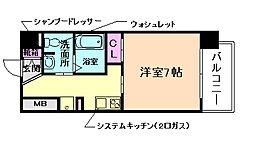 JR大阪環状線 京橋駅 徒歩4分の賃貸マンション 5階1Kの間取り