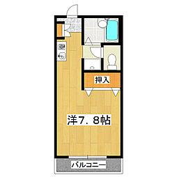 鎌倉ハイツ[203号室]の間取り