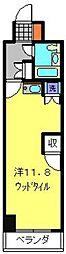 神奈川県横浜市南区蒔田町の賃貸マンションの間取り