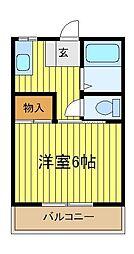 メゾン秋[1階]の間取り