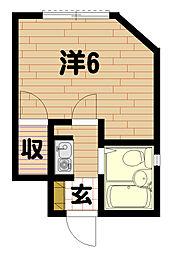 サンハイムI[205号室]の間取り