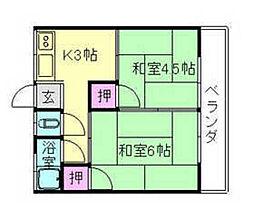 曽根マンション[2階]の間取り