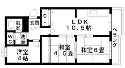 アム−ル西井[4階]の間取り