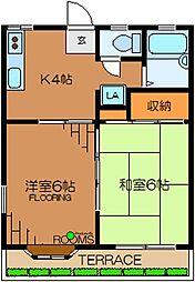 東京都杉並区久我山5丁目の賃貸アパートの間取り