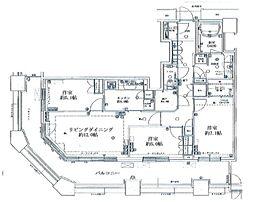 芝浦アイランド ケープタワー 2階3SLDKの間取り