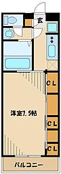リブリ・Crecia ~リブリクレシア~ 3階1Kの間取り