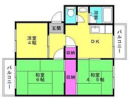 加古川城ノ宮住宅[1-105号室]の間取り